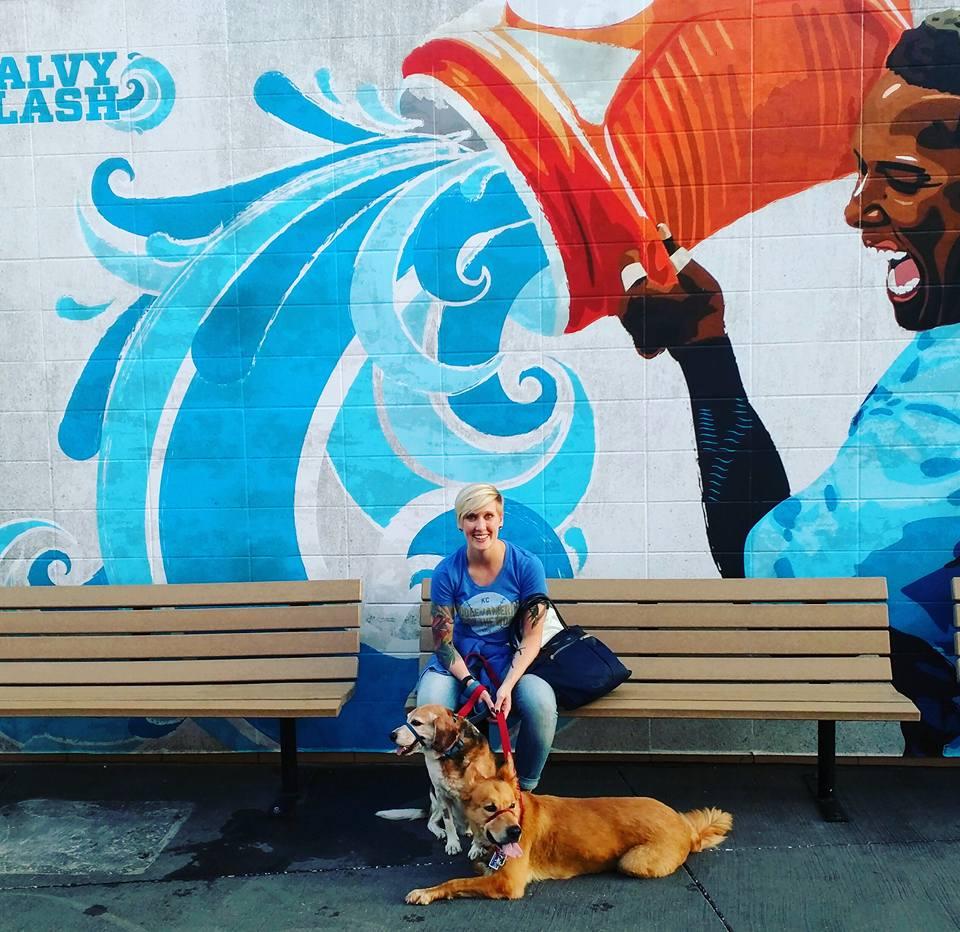 Heather Physioc at Kansas City Royals Bark in the Park