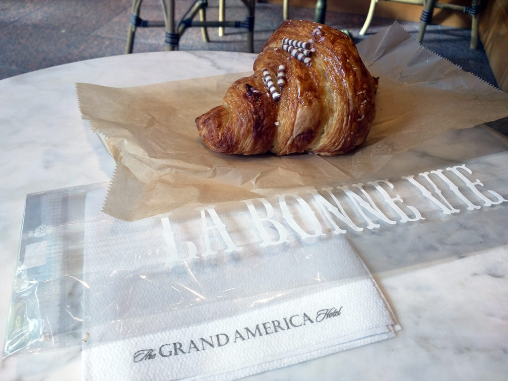 Nutella-Filled Croissant from La Bonne Vie Bakery inside the Grand America Hotel in Salt Lake City, UT