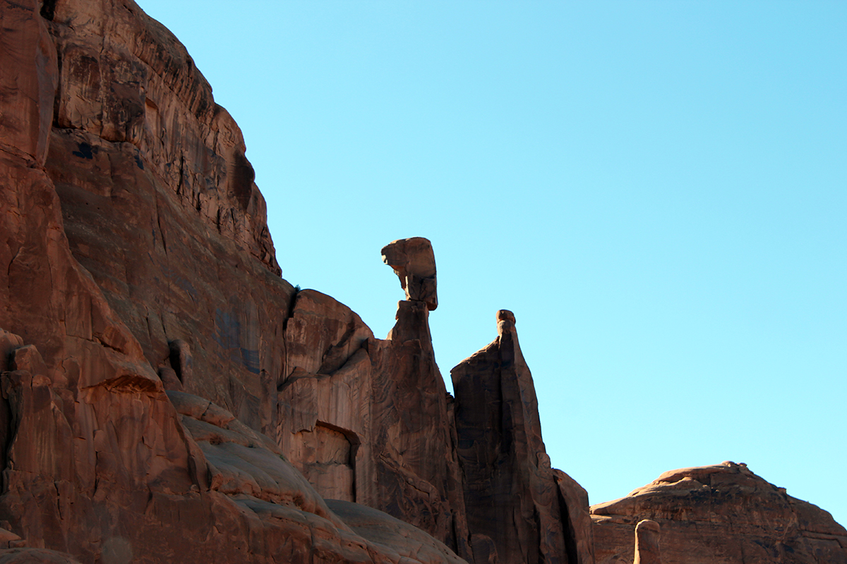 Rock Balancing at Arches National Park in Moab, Utah