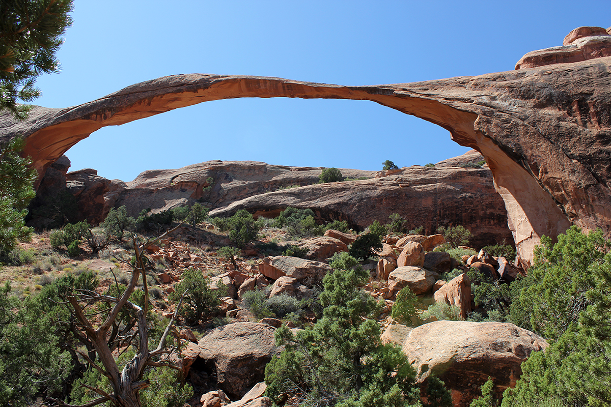 Landscape Arch at Arches National Park in Moab, Utah
