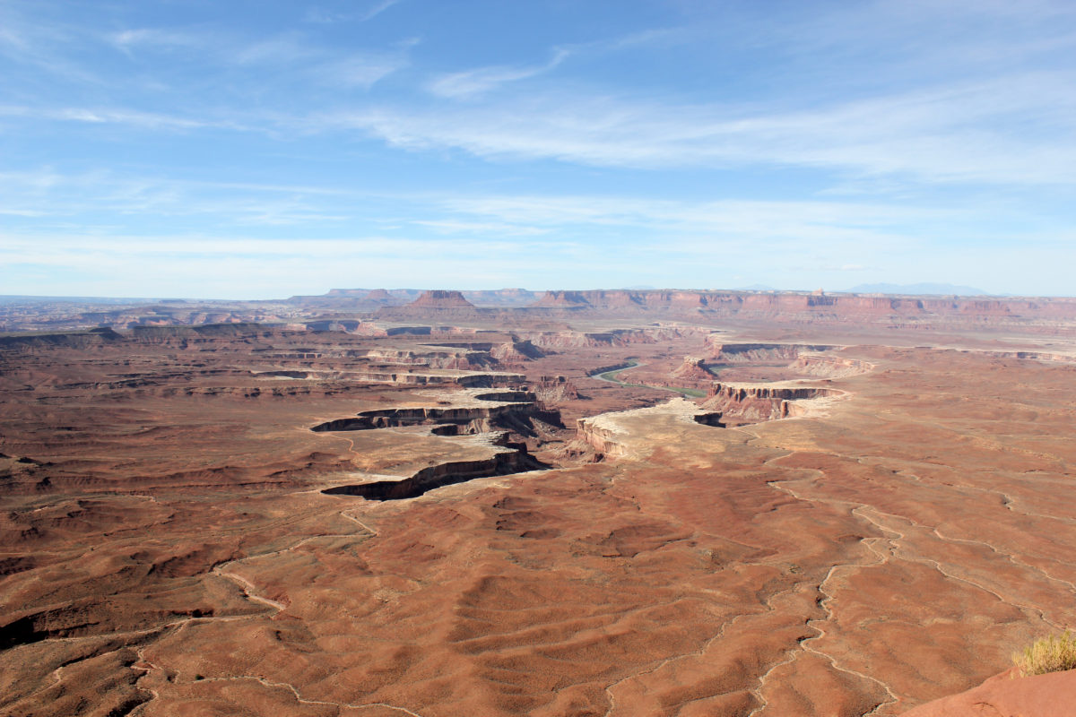 Grand View Point Outlook at Canyonlands National Park
