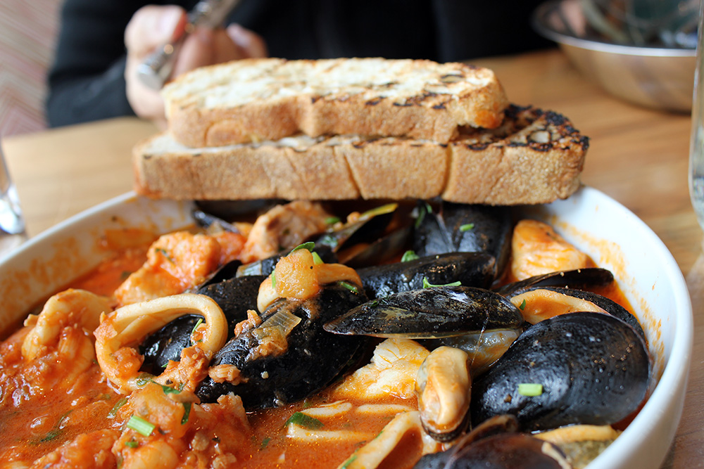 Cioppino Seafood Soup at Farmers Fishers Bakers Restaurant in Georgetown