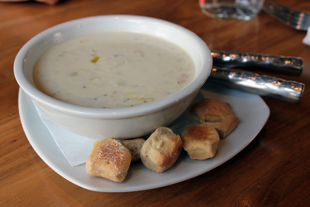 Clam Chowder at Farmers Fishers Bakers Restaurant in Georgetown