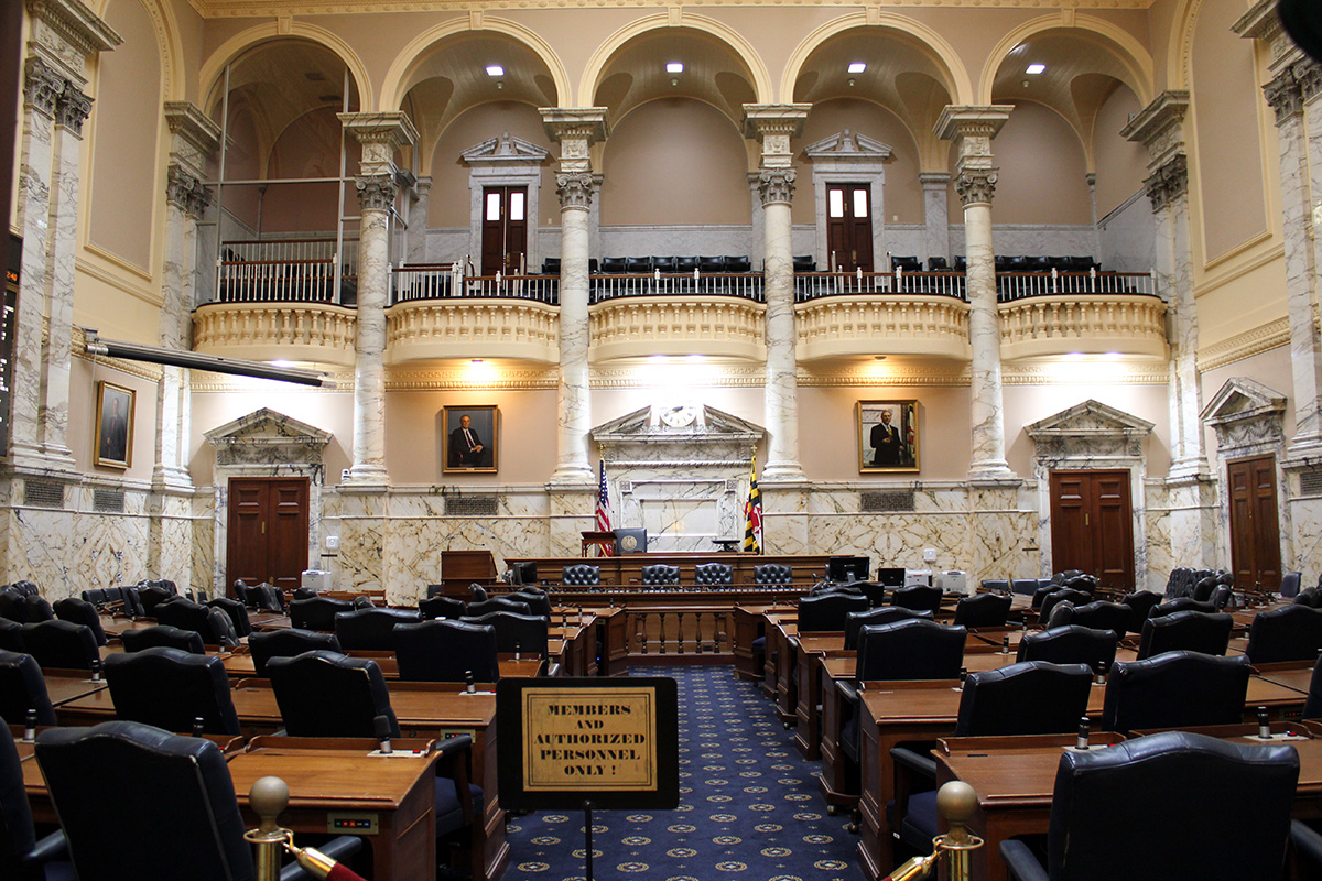 Maryland State House Representatives Chamber