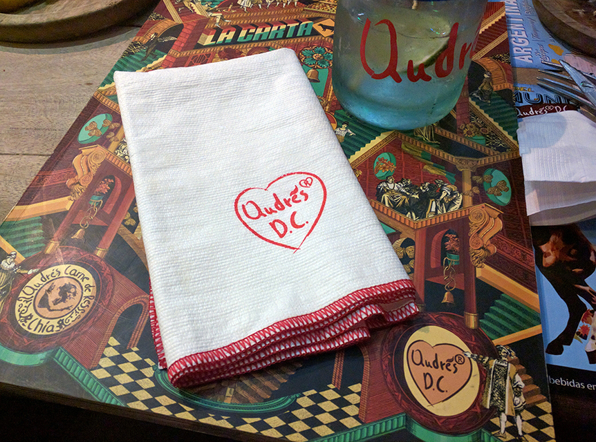 Cloth Napkin at Andres Carniceria DC in Bogotá, Colombia