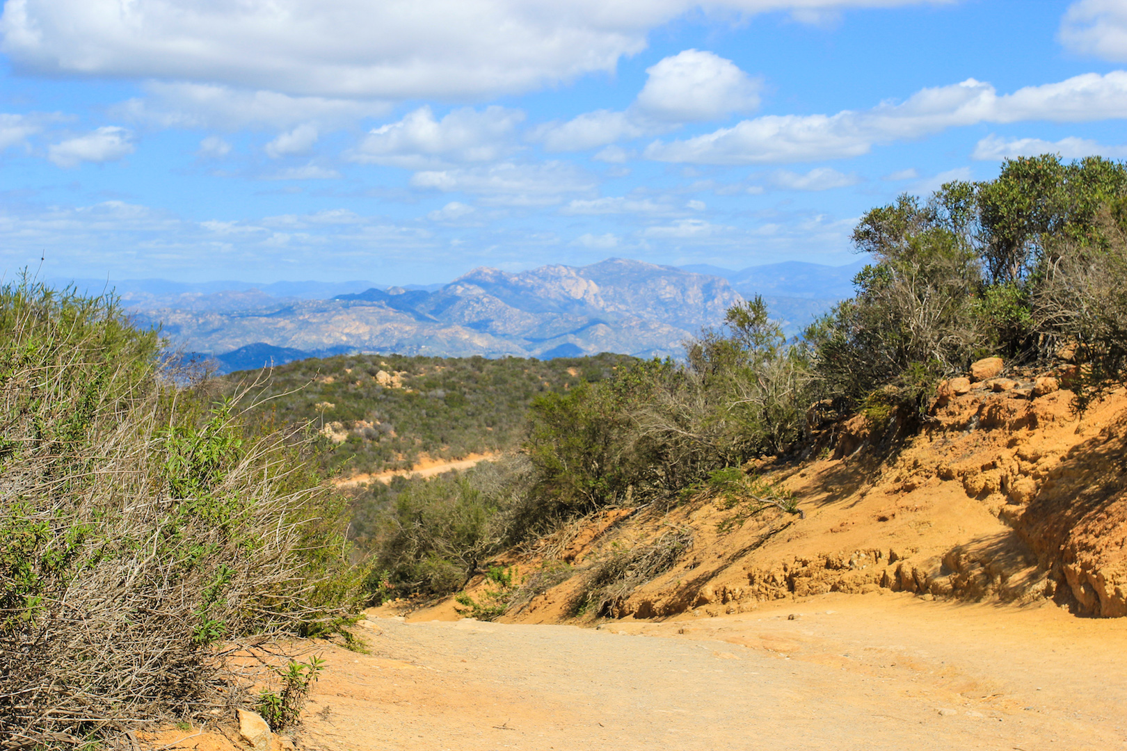 Big Rock Hiking Trail at Cowles Mountain in San Diego, CA