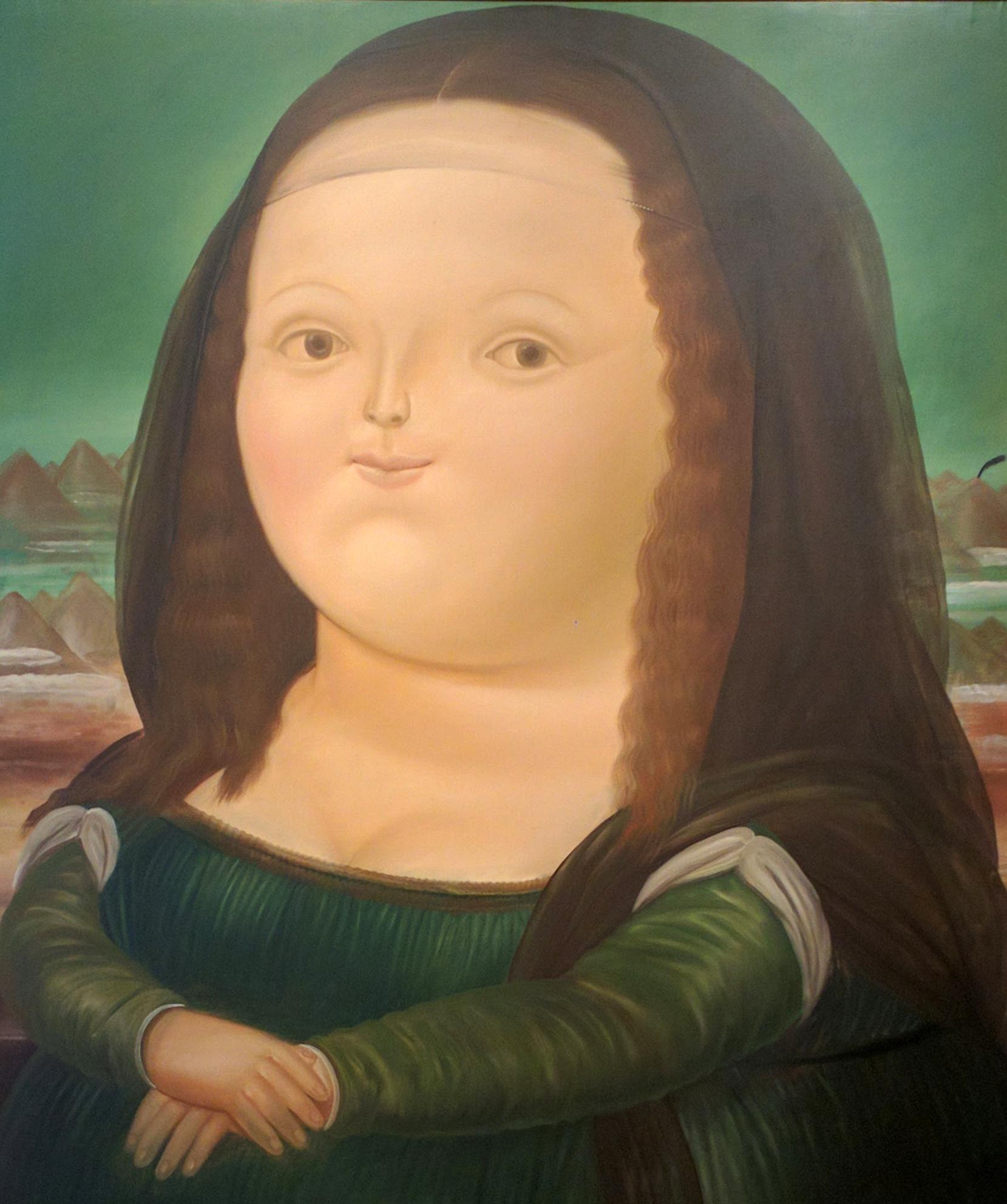 Chubby Mona Lisa in Museo Botero en Bogotá, Colombia