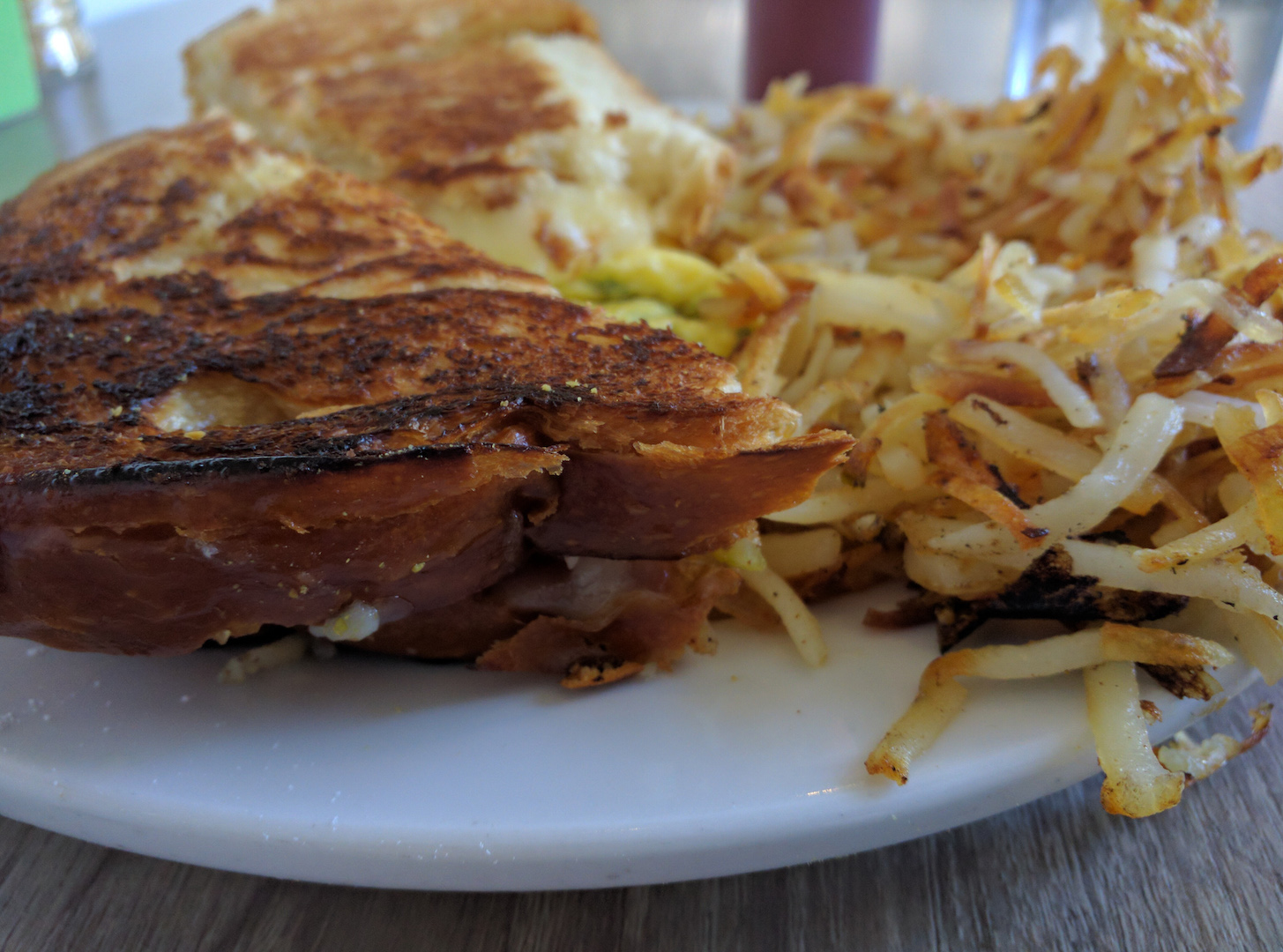 Brioche Grilled Cheese Breakfast Sandwich at Shorehouse Cafe in San Diego