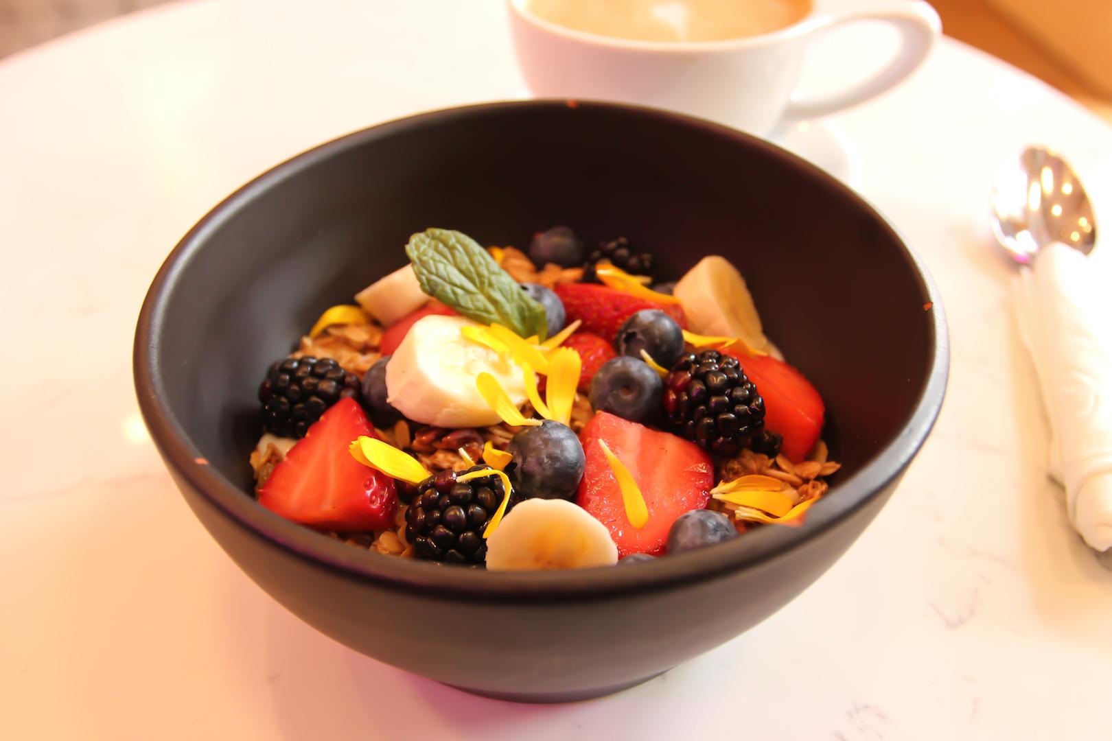 Coconut Yogurt Granola Bowl at Parakeet Coffee