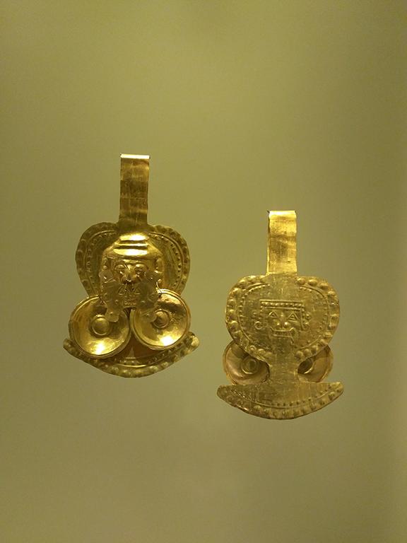 Gold Earrings - Museo del Oro - Bogotá, Colombia