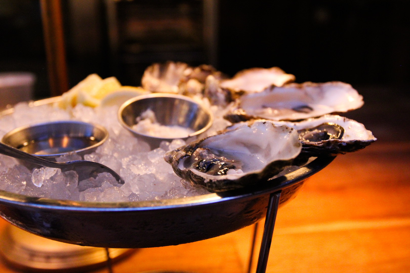 Oysters at Ironside Fish & Oyster in Little Italy, San Diego, CA