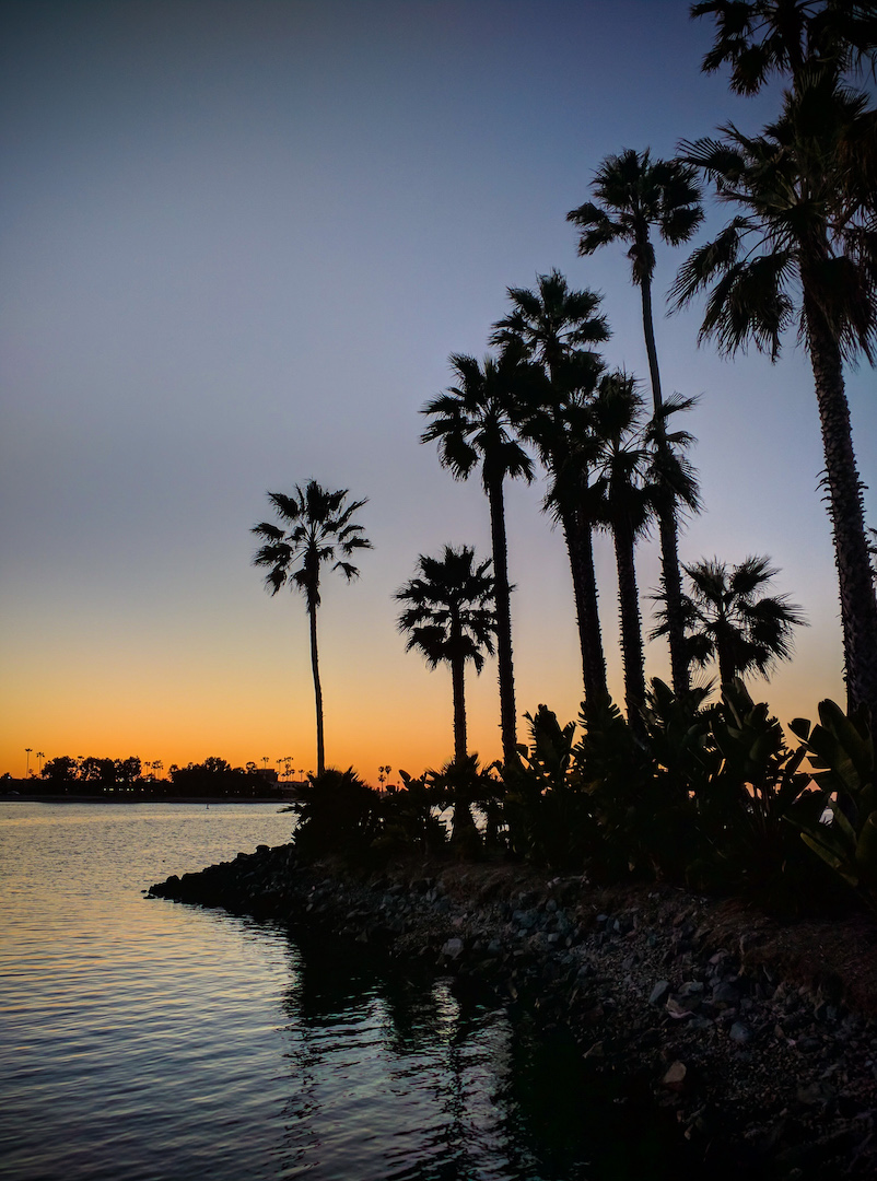 Sunset Over Mission Bay at Paradise Point in San Diego, CA