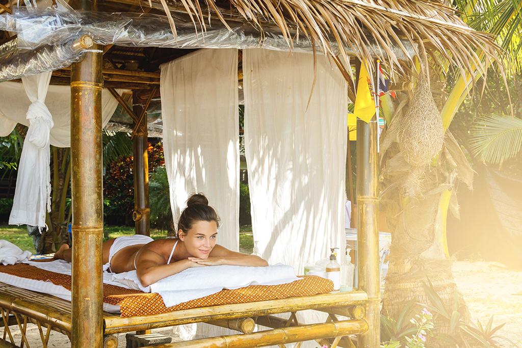 Luxury Thai Massage on a Beach on Luxury Vacation