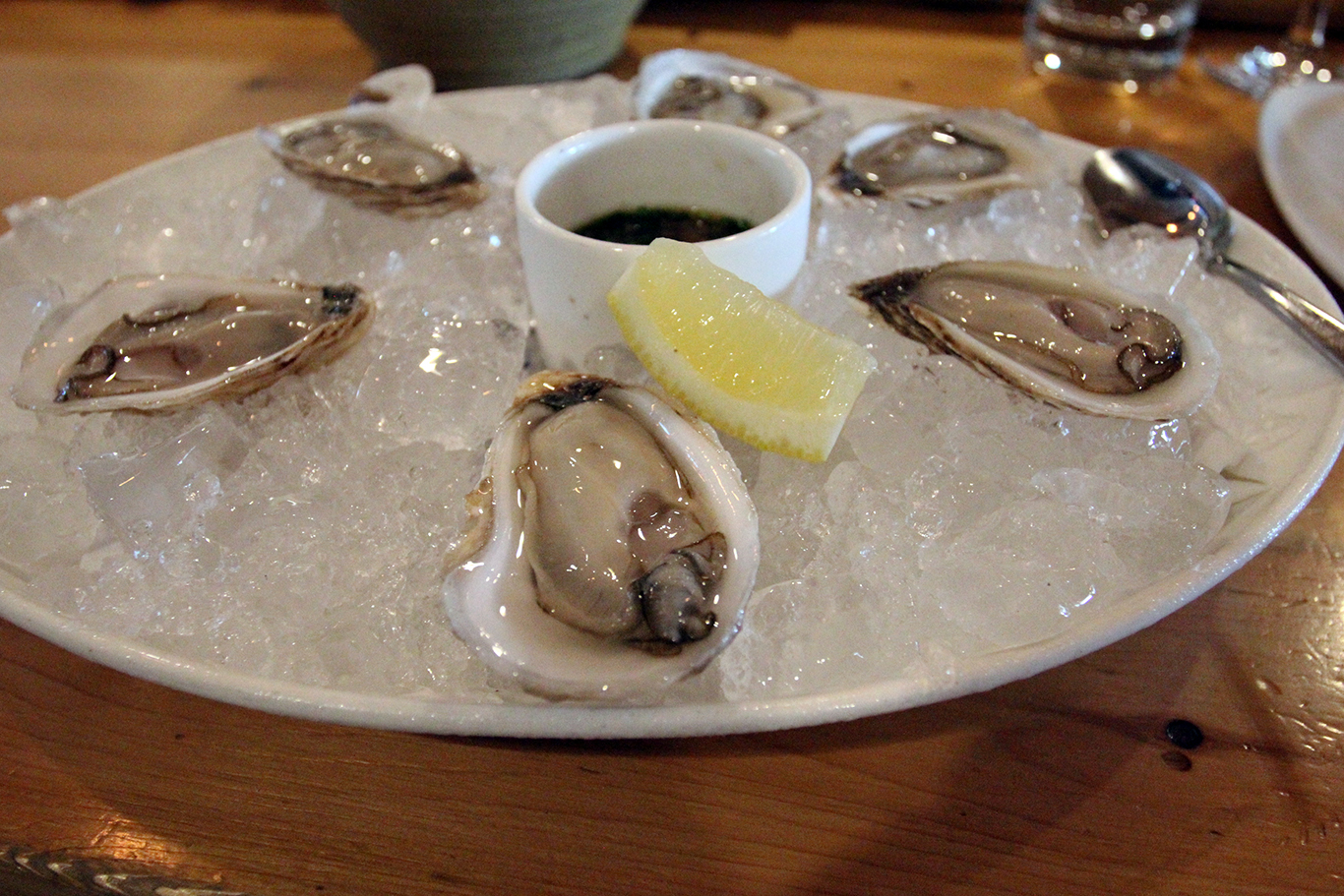 Oysters at Selden Standard Restaurant in Detroit, MI