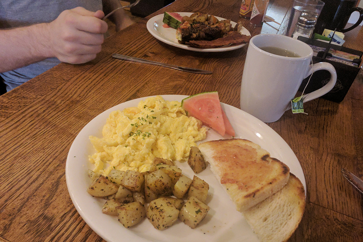 Breakfast at Good Karma Cafe in Manitou Springs, CO