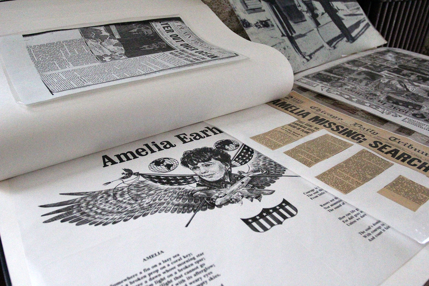 Newspaper Headlines About Amelia Earhart Disappearance