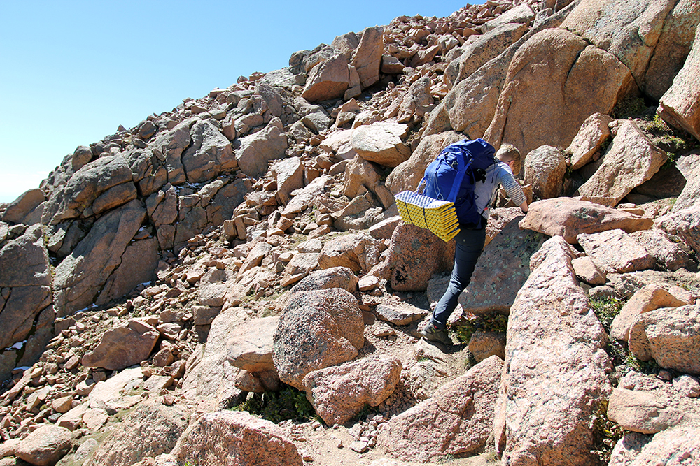 Rock Scrambling 16 Golden Stairs to Pikes Peak