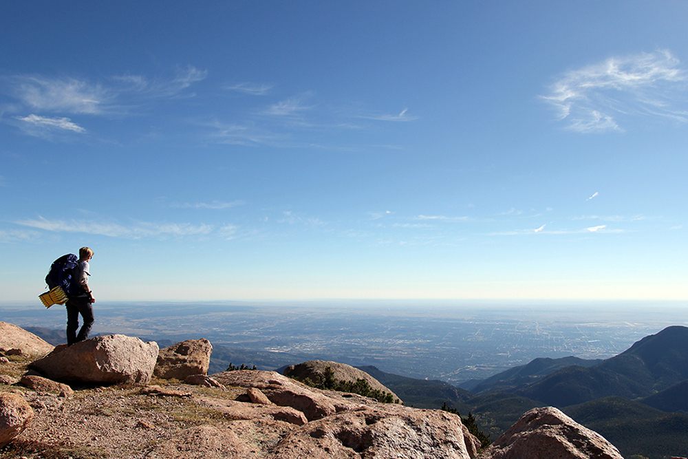 Pikes Peak Overlooking Colorado Springs