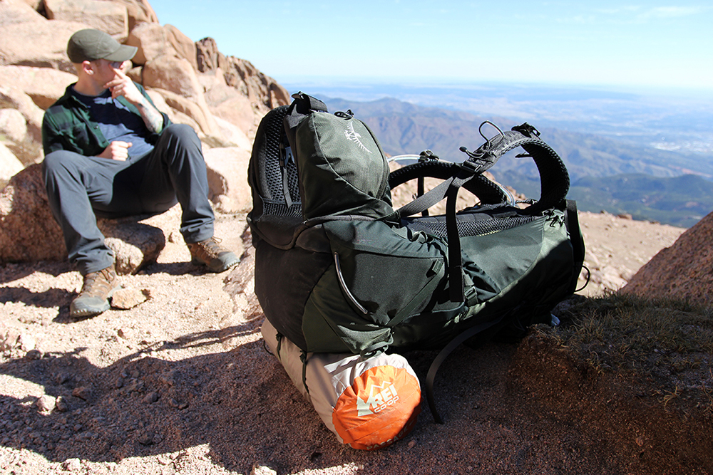 Rest Break on Pikes Peak with REI Coop Bag