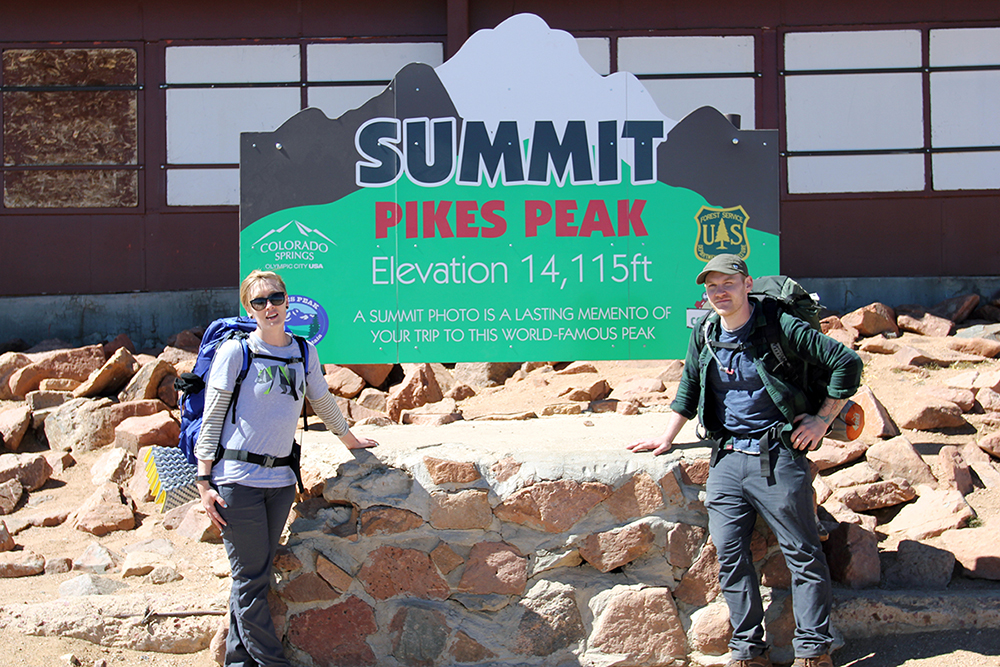 Pikes Peak Summit Tourist Sign