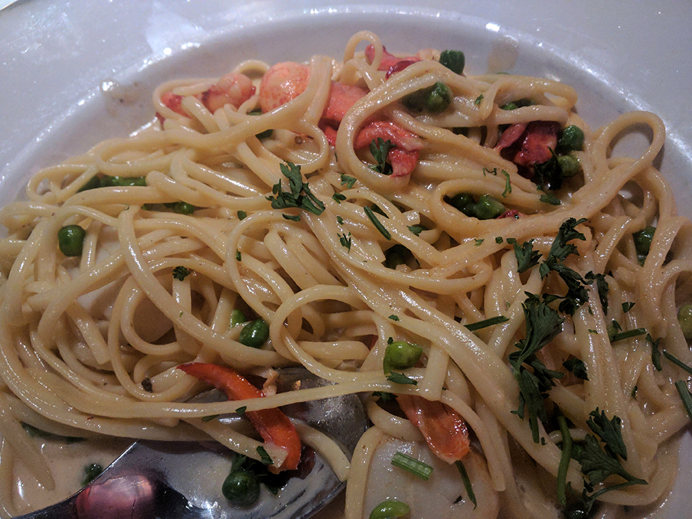 Seafood Pasta at Rabbit Hole Restaurant in Colorado Springs