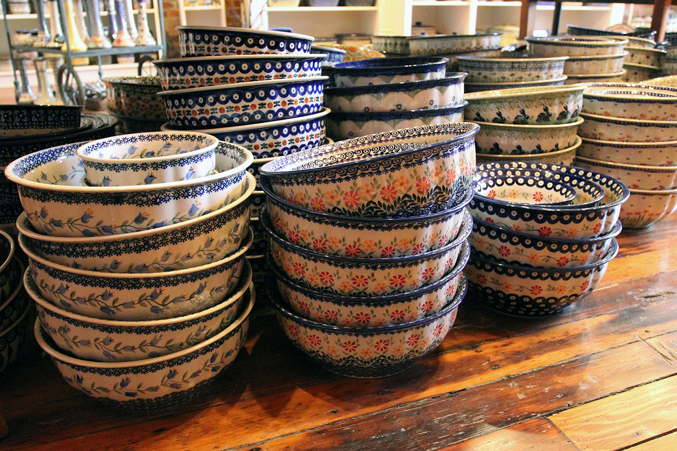 Polish Pottery Bowls at Renditions in Weston, MO