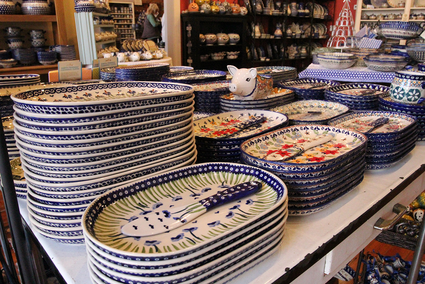 Polish Pottery Platters at Renditions in Weston, MO