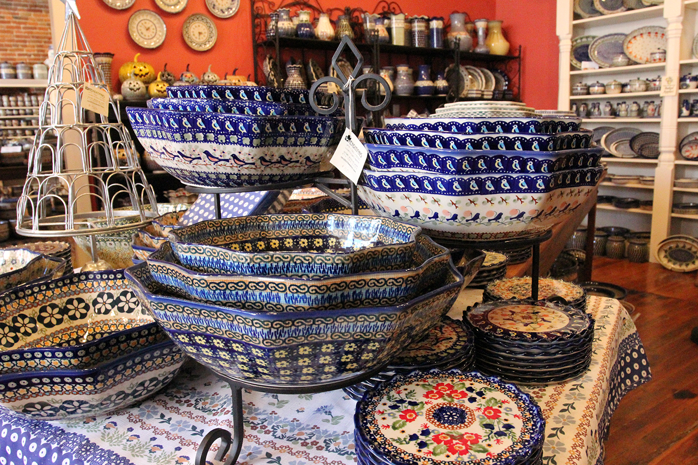 Polish Pottery Serving Bowls at Renditions in Weston, MO