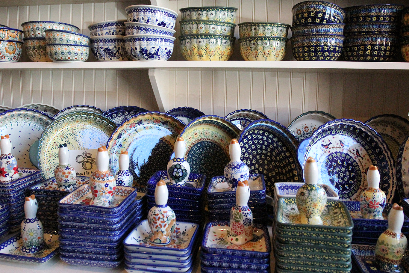 Polish Pottery Plates at Renditions in Weston, MO