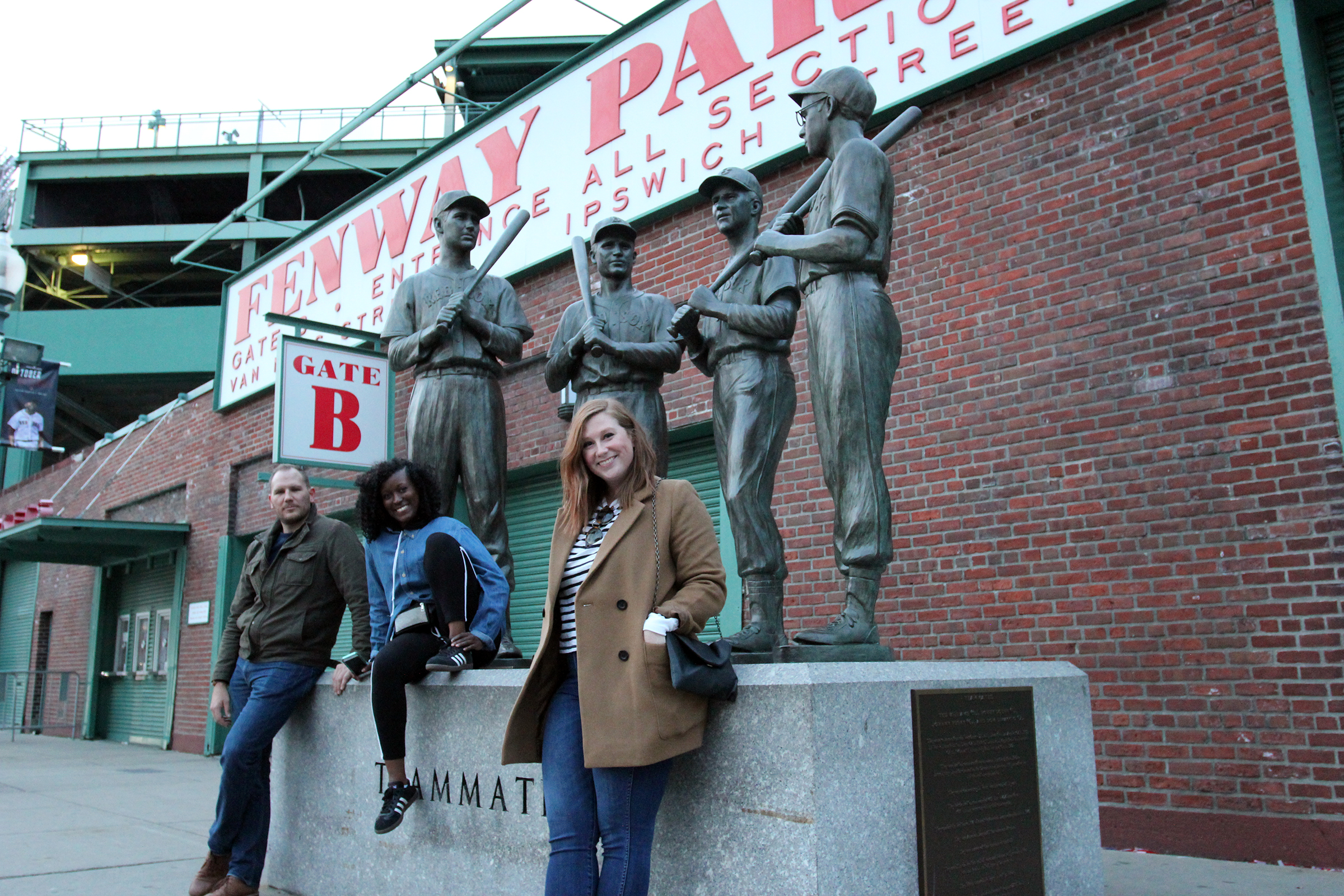 Dan, Keyaira & Lauren of VMLY&R at Fenway Park in Boston