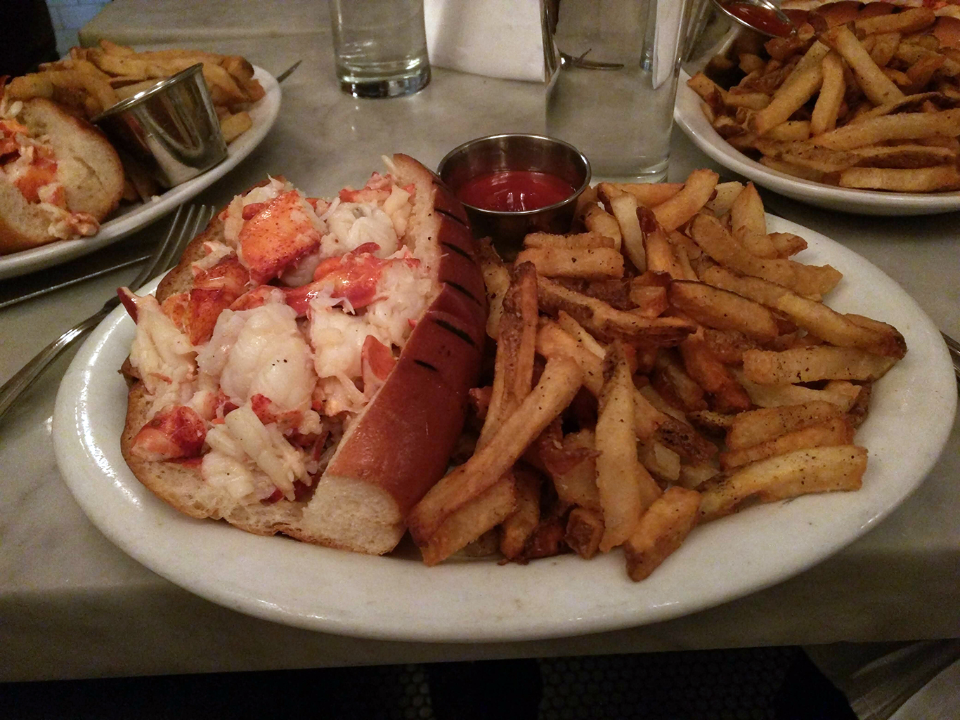 Hot Butter Lobster Roll at Neptune in Boston