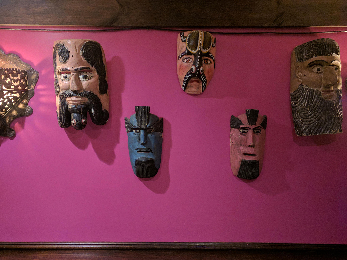 Masks on the Wall at Casa Romero Mexican Restaurant in Boston