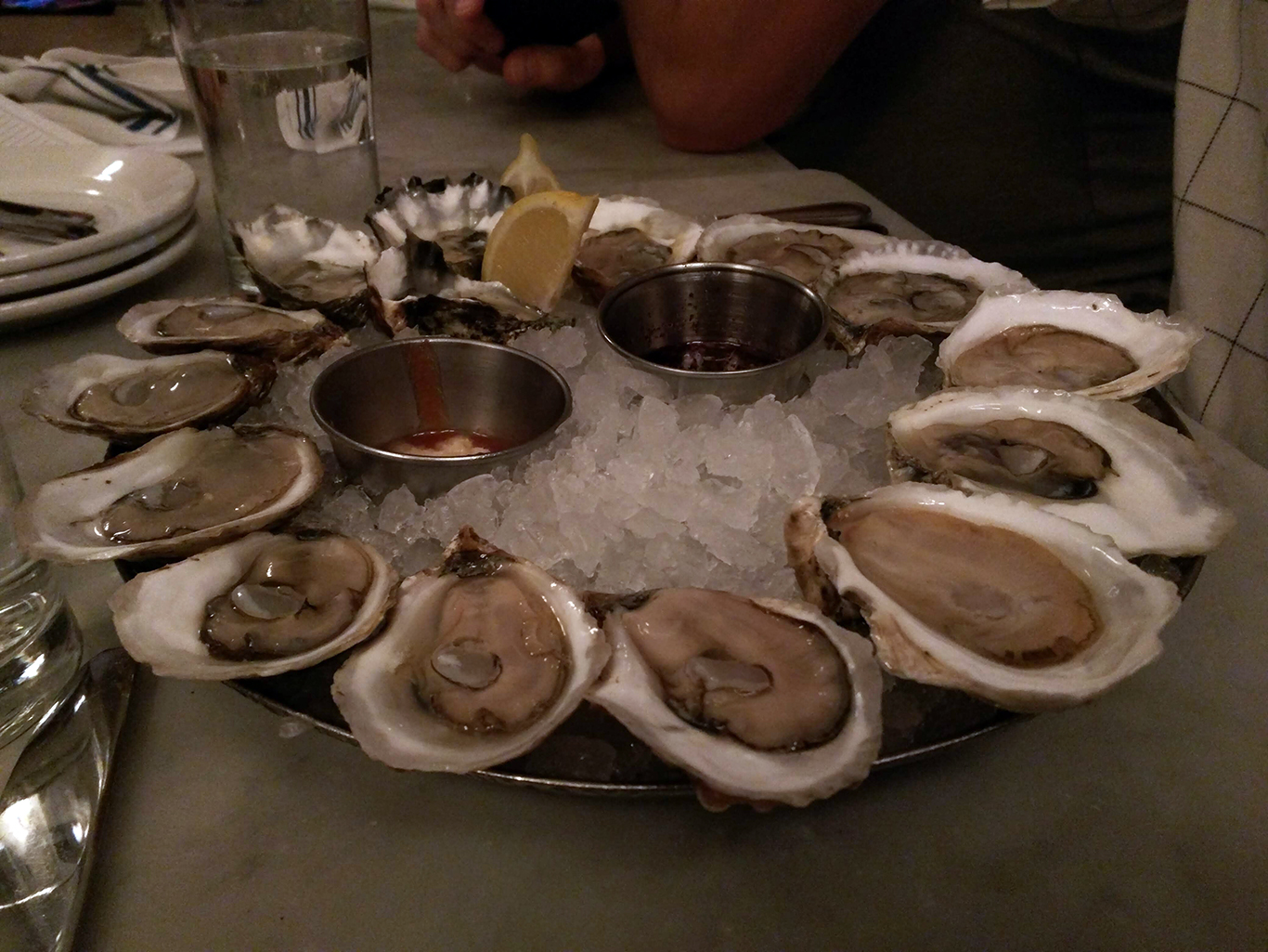 Oysters at Neptune in Boston, MA
