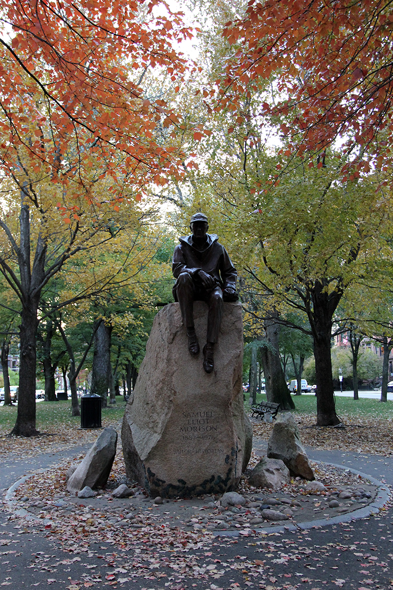 Samuel Eliot Morrison Monument at Commonwealth Avenue Mall