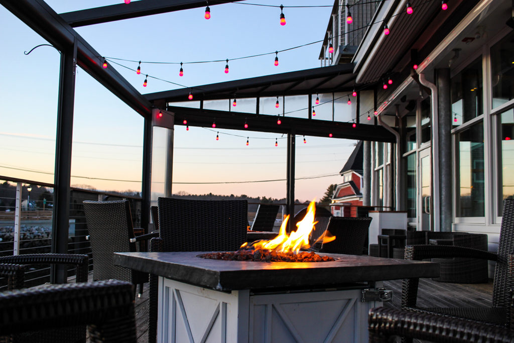 Fire Pit & Lighting at Boathouse Waterfront Hotel & Restaurant