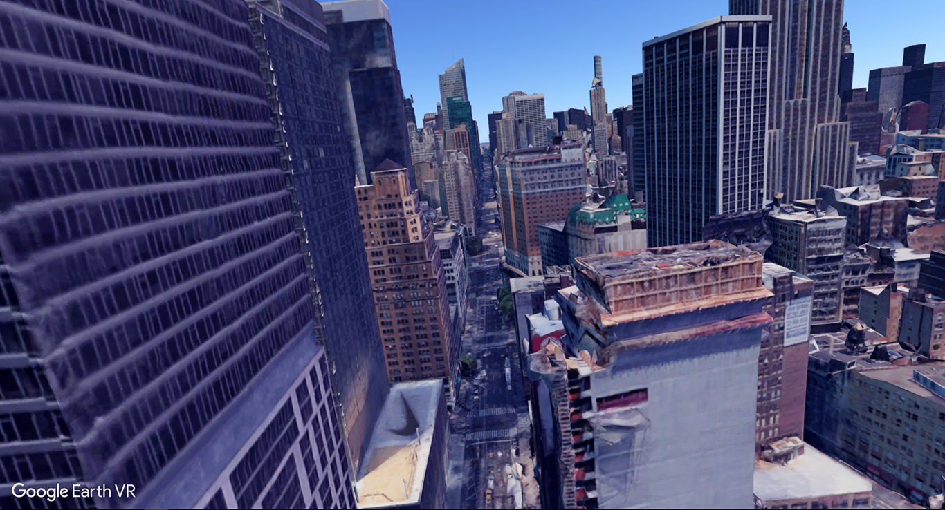 Dystopian New York City in Google Earth VR