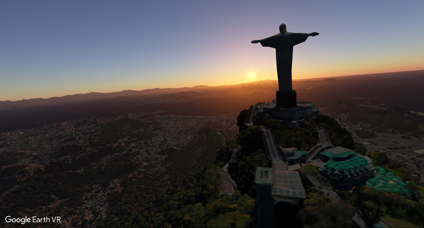 Christ the Redeemer in Brazil in Virtual Reality