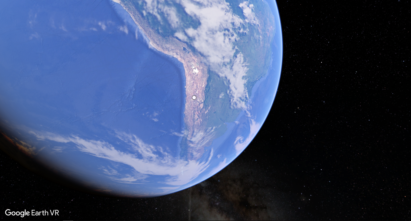 Globe from Space in Google Earth VR