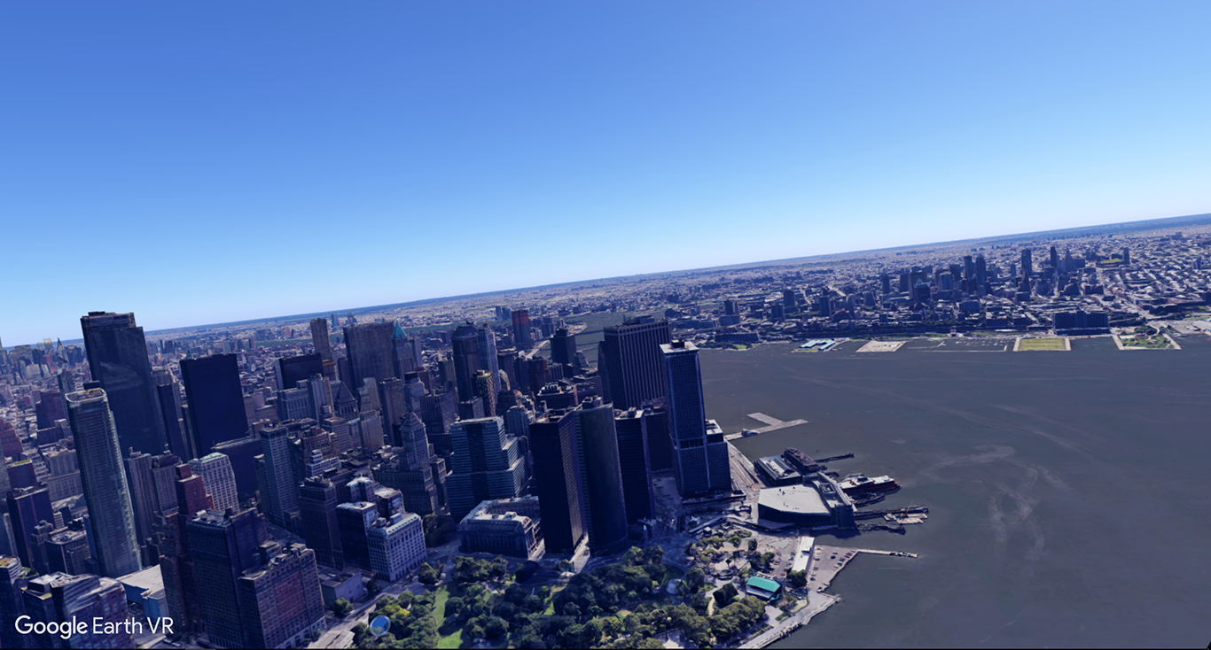 Google Earth VR New York City Hudson River