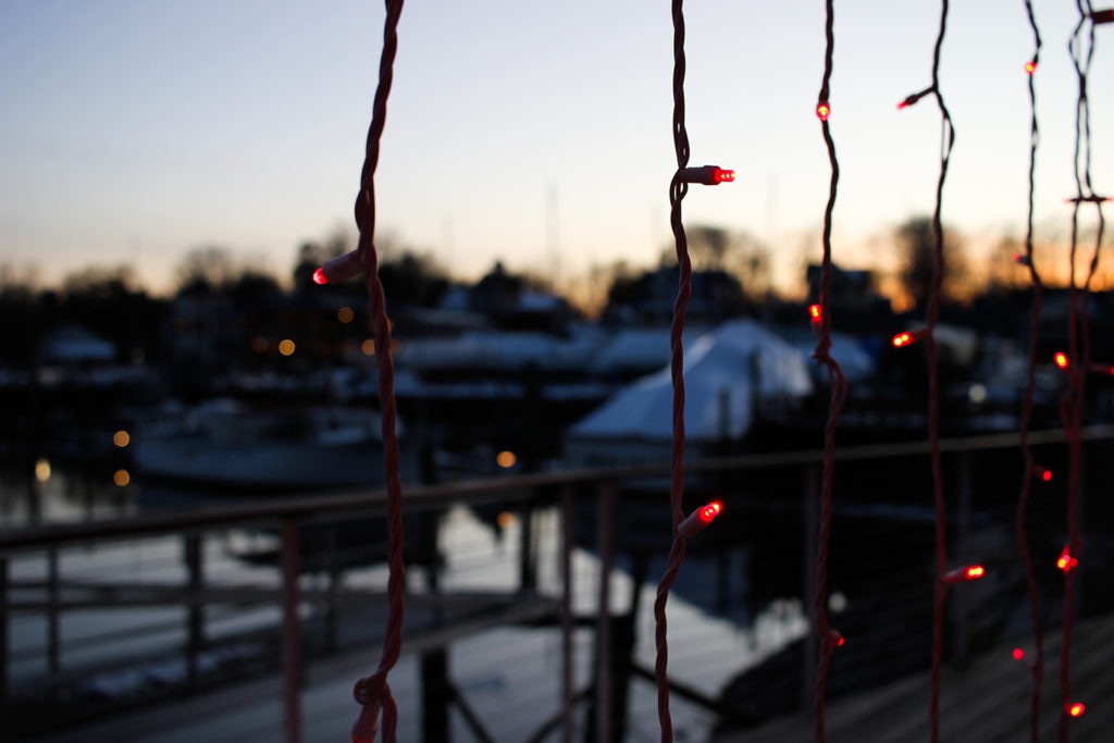 Sunset on the Kennebunk River at Boathouse Waterfront Hotel & Restaurant