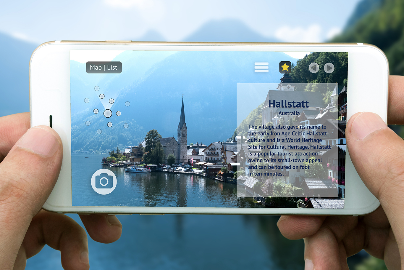 Mobile Augmented Reality Over Halstatt, Austria