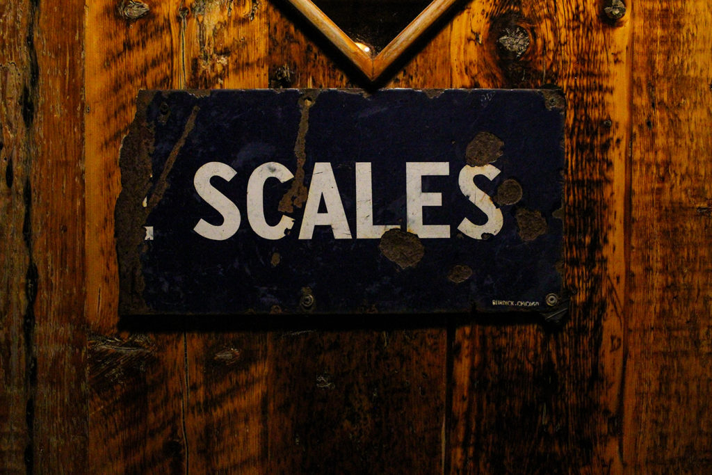 Scales Restaurant Door in Portland, Maine