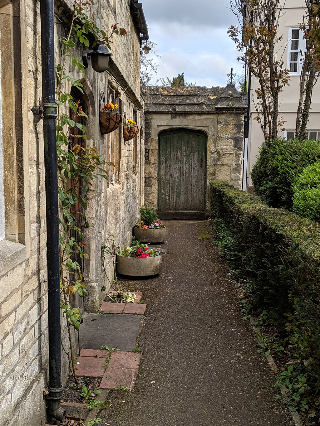 Patio in Cirencester, Gloucestershire, Cotswolds, UK