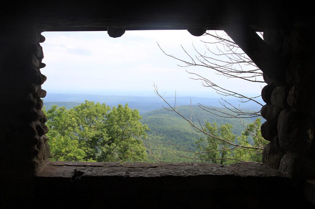 Overlook Shelter at White Rock Mountain, Arkansas