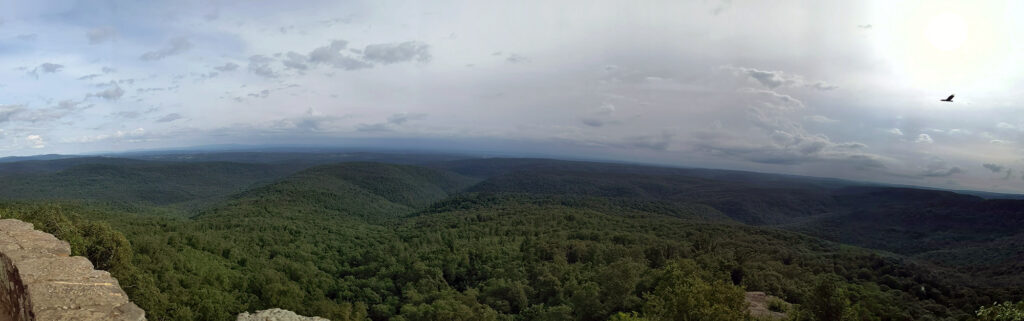 Panoramic View of Ozark National Forest from White Rock Mountain, Arkansas