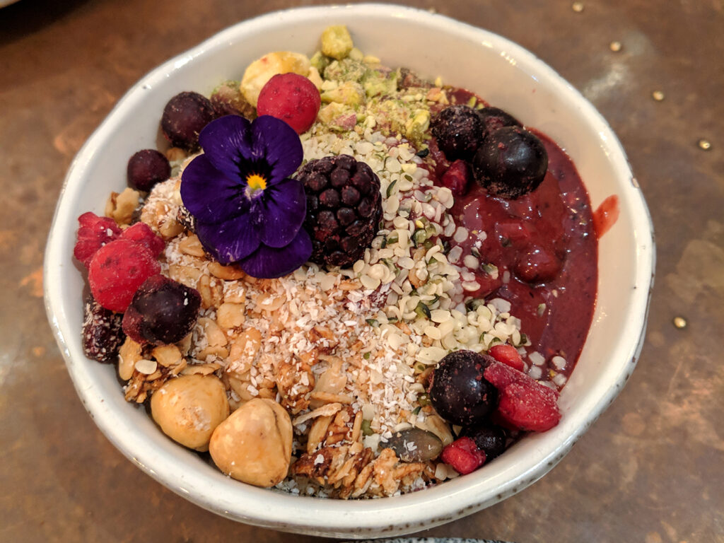 Acai Smoothie Bowl at Lost in the Lanes Brighton