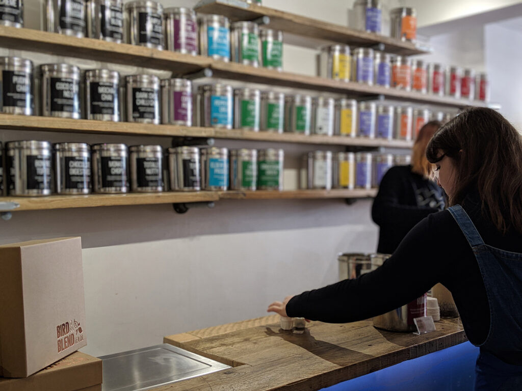 Bird & Blend Tea Co. in Brighton, England