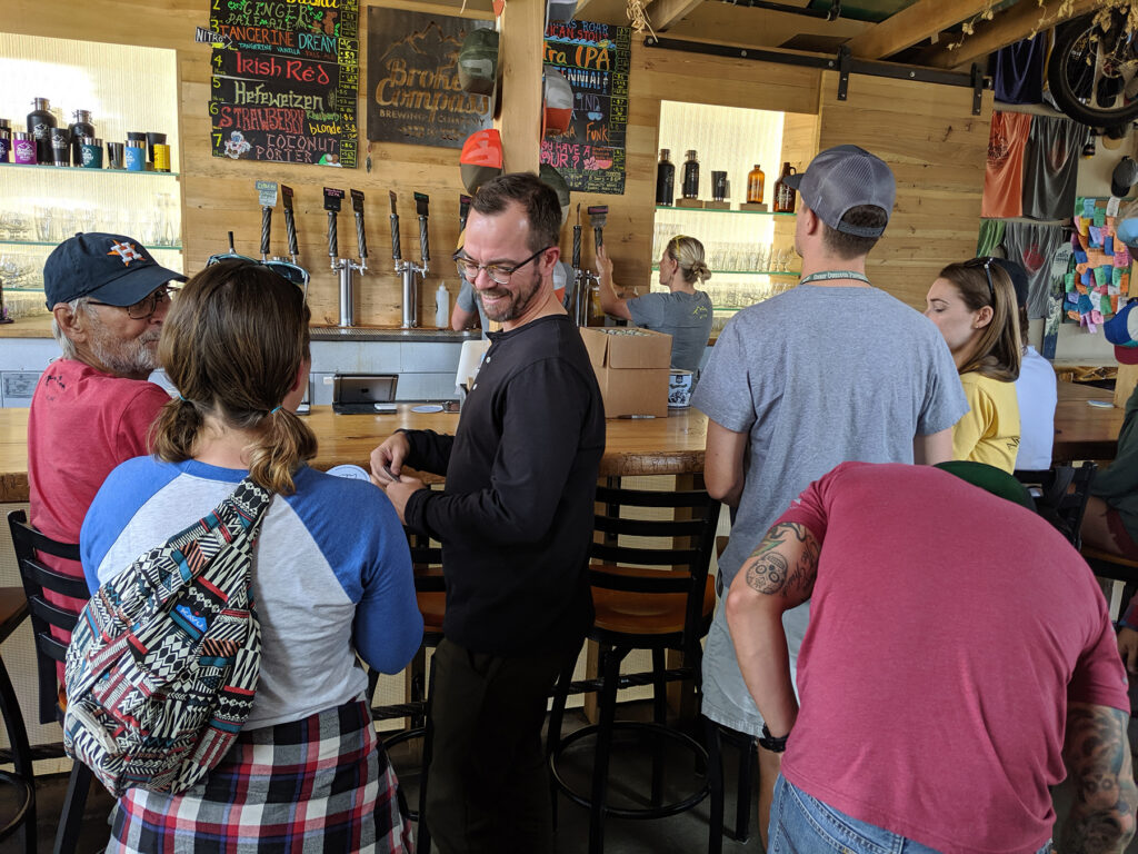 Broken Compass Brewing Beer Menu in Breckenridge
