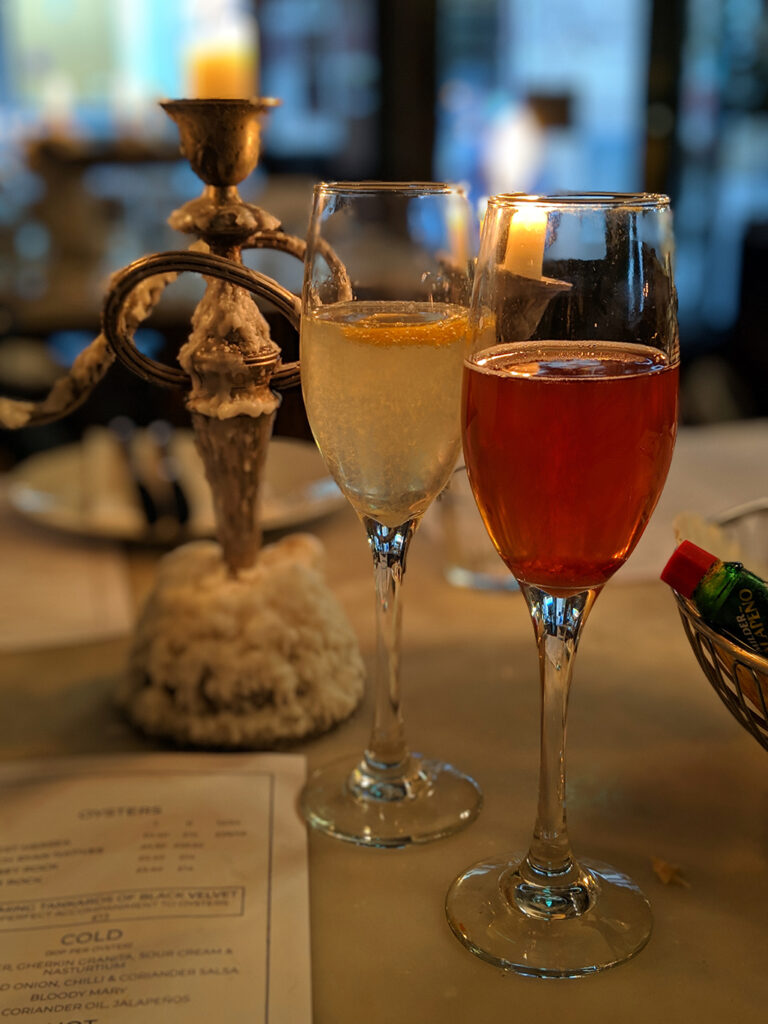 Champagne Cocktails & Candlelight at Riddle & Finns in Brighton