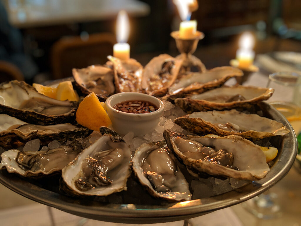 Oysters at Riddle & Finns in Brighton